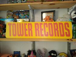 Tower Records Sign 6 X 24 Aluminum Retail Display Record Shop