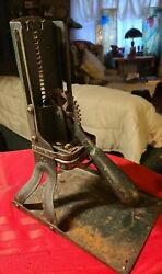 Antique Old Green Cast-iron French Fry Cutter ◇ Becky Porter ◇ Works Great
