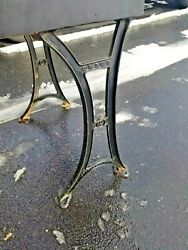 Antique School Furnishing Co. Orion Bloomsburg Pa Cast Iron Table Legs