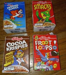 Vintage 1990s Mini Cereal Boxes Fruit Loops Cocoa Krispies Frosted Flakes Smacks