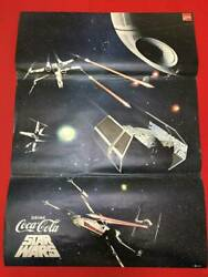 Vintage Star Wars Movie Poster Coca-cola Tie-up B1 Size Beauty Products O
