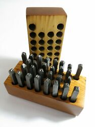 Complete Vintage 30 Piece Steel Alphabet Stamping Set — 1/8 Tall Letters