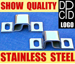 Nos Pair 1940and039s Dodge Truck Dpcd Hood Hinge Pivots Stainless Steel Chrome Shine