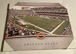 """Chicago Bears Nfl Football 16"""" X 20"""" Canvas Wall Art Picture"""