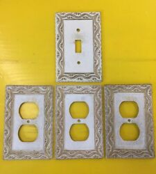 Vintage Metal Light Switch Plate And Outlet Covers 4 Pieces