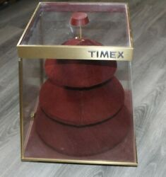 Vintage Rare 60s Timex Watch Counter Top Rotating Spinning Store Display Case
