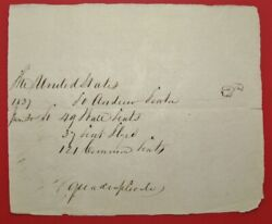 1837 The United States Military Request Letter For Gun Flints - Andrew Kenton