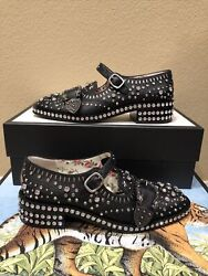 100 Authentic Black Crystal Queercore Mary Jane Shoes 4400+tax Size 40