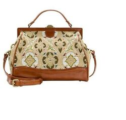 Patricia Nash Discovery Collection Brianza Tapestry Frame Satchel Limited -nwt