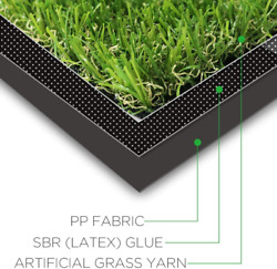 Artificial Grass Turf Customized Sizes 15 X 51 Feet 0.8inch Realistic Syntheti