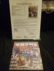 Kiss Hand Signed By Original 4 Members 7x7 Album Autographed With Jsa Coa