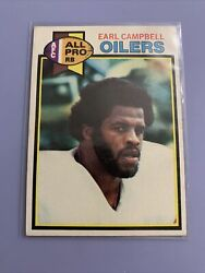 1979 Topps Football Earl Campbell Rookie Rc 390🔥j-7