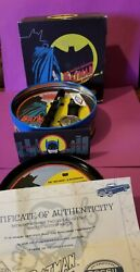 Batman Vintage Fossil Watch W/papers And Flaslight Keychain And Tin Please View Pics