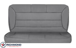 92-96 Ford Bronco -rear Bench Seat Complete Perforated Leather Seat Covers Gray