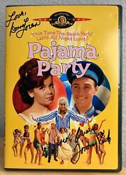 Pajama Party Dvd Signed By Tommy Kirk And Donna Loren