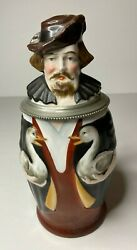 German Character Stein The Gooseman Ca 1880s Lithophane Excellent Cond.