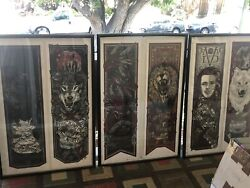Rhys Cooper Game Of Thrones Call The Banners Complete 20 Print Set + Rose Rare