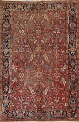 Vintage Traditional Geometric Hand-knotted Area Rug Home Decor Oriental Wool 7x9