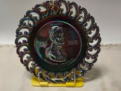 Abraham Lincoln Amethyst Glass Collectors Plate 1809 Of 2500 L. E. Smith 1971