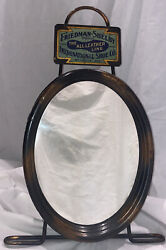 Friedman Shelby Shoes Copper Flashed Advertising Mirror