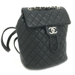 CHANEL Backpack DaypackMatelasse Chain Leather Black K01208349 PD2 $4095.00