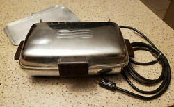 Vintage 1950s Ge General Electric Waffle Iron / Sandwich Griddle Cat No 149g39