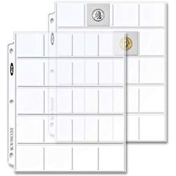 Bcw 25 20 Pocket Coin 2x2 Album Binder Pages Sports Andamp Outdoors