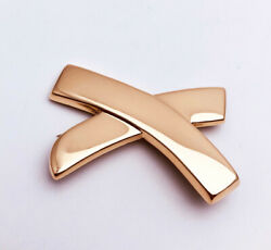 And Co Kiss By Paloma Picasso Large Brooch Pin 18k Yellow Gold