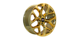 22x9 6x139.70 Str701 Snowflake Candy Gold Made For Chevy Tahoe