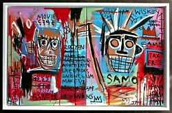 Jean Michel Basquiat -- A 1980s Original Acrylic Painting On Canvas Signed
