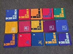 Vintage 1960's Boy Scout Neckerchief Lot 15 Different New Old Stock