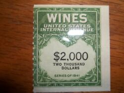 Scott Re170 Mnh 2000 Wine Stamp One Of Only 25 Known Mint Examples