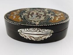 Antique French Louisxv 1762/68 Snuffbox/tabacchiera Made With Gold Silver Lacque