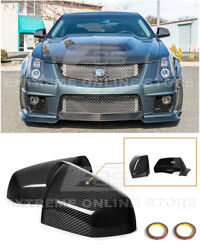 For 09-15 Cadillac Cts Cts-v | Gm Factory Carbon Fiber Replacement Mirror Covers