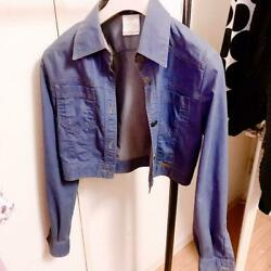 Used G Jean Denim Jacket Women M Size Blue Color Long Sleeves Very Rare