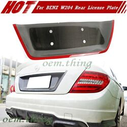 Red Line Carbon Fit For Mercedes Benz W204 C-class 4d Rear License Plate Cover