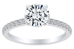 Round Cut Natural Diamond Solitaire Engagement Ring In 14k Solid Gold 0.75 Ct