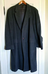 Gorgeous Charcoal Grey Cashmere Overcoat - Size 46l