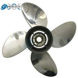 Stainless Steel-outboard-propeller 13x19 Lh For Yamaha 50-130hp 4 Blade 15t
