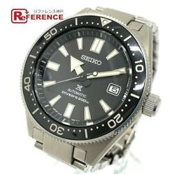 Seiko 6r15-03w0 Prospex Divers Cuba Automatic Silver Menand039s Used From Japan V0219