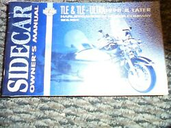 Used Harley 1998 And Later Sidecar Models Official Owners Manual P/n 99958-98