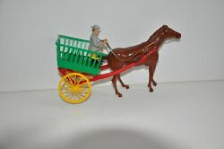 Vintage Wolverine Farm Wagon Wind Up Toy With Box - New - Never Used