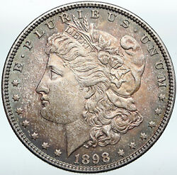 1898p United States Of America Us Silver Morgan Vintage Dollar Coin Eagle I88304