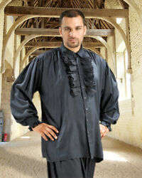 Men's Costume Movie Vintage Pirate Dress Shirt, High Quality Hand Crafted.