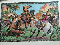 Painting On Woven Canvas Horses Animals Large Painted Canvas Oriental Battle
