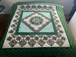 Amish Quilt For Sale Stars Over The Georgetown Path Amish King Or Queen Quilt