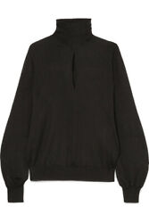 1513 Fabulous Tom Ford Cutout Cashmere And Silk-blend Turtleneck Sweater, Nwt