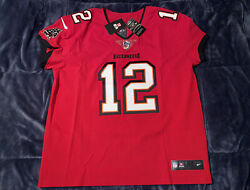 Tom Brady Tampa Bay Buccaneers Elite Authentic Red Home Jersey Super Bowl 40-52