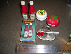 Heinz Ketchup And Pickle Four Vintage Advertising Collectibles