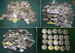 You Choose Walking Liberty, Franklin, Kennedy 10.00 Face Silver Halves Rzcs